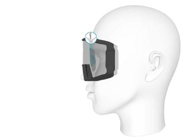L'insert optique Clipoptic® peut être fixé à l'intérieur du masque grâce à un serflex, pour un bon maintien et une stabilité optimale.