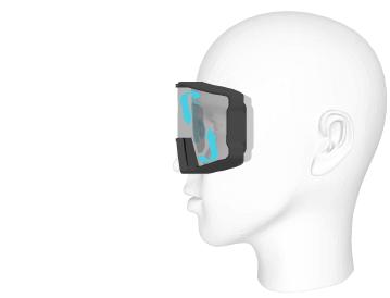 Le clip optique permet d'éviter la buée à l'intérieur du masque.