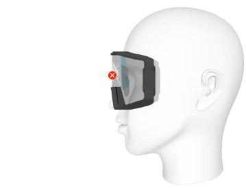 L'insert optique positionné sur le nez ne raye pas l'écran du masque.