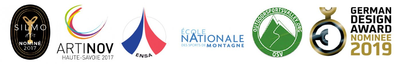 Nos partneraires: ENSA (Ecole Nationale de Ski et d'Alpinisme de Chamonix), l'ENSM (Ecole Nationale des Sports de Montagne) et l'OSV (Outdoor Sports Valley).